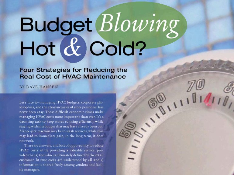 Strategies for Reducing HVAC Cost